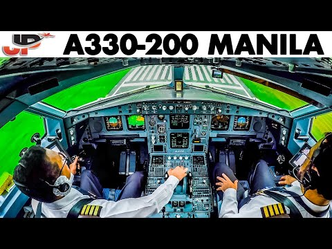 Piloting Airbus A330 into Manila   Cockpit View