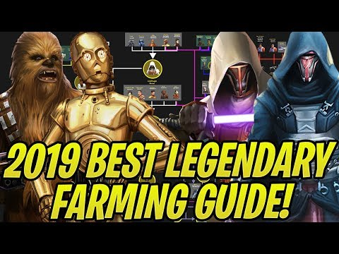 2019 Best Legendary Farming Guide *UPDATED*! How To Efficiently Unlock All Legendaries! | SWGoH