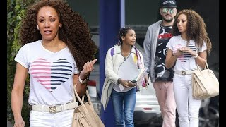 Mel B steps out with daughter Angel and hairdresser Gary Madatyan