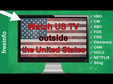 How watch US TV outside the United States