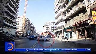 Θεσσαλονίκη: Σοκαριστικό βίντεο με παράσυρση πεζής σε κεντρικό δρόμο - Μεσημεριανό Δελτίο