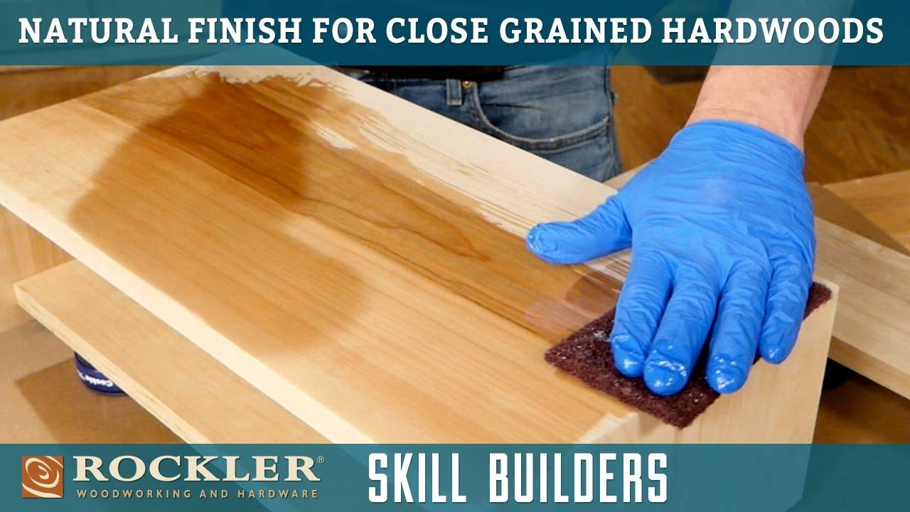 Closed Grain Hardwood Wood Finish