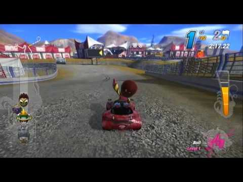 ModNation Racers Custom Track  - Roundabout Gauntlet