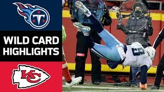 Titans vs Chiefs  NFL Wild Card Game Highlights