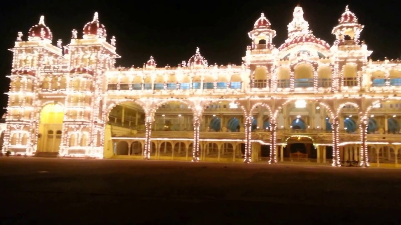 lighting of mysore palace with music 1080p hd youtube