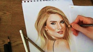 Drawing Rosie Huntington-Whiteley