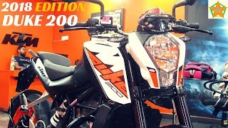 KTM DUKE 200 2018 NEW EDITION, DETAILED WALKAROUND REVIEW | PRICE, COLOURS, NEW FEATURES.