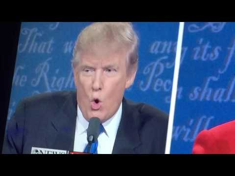 PRESIDENTIAL DEBATE 2016 DEFENSIVE DONALD  #1•4