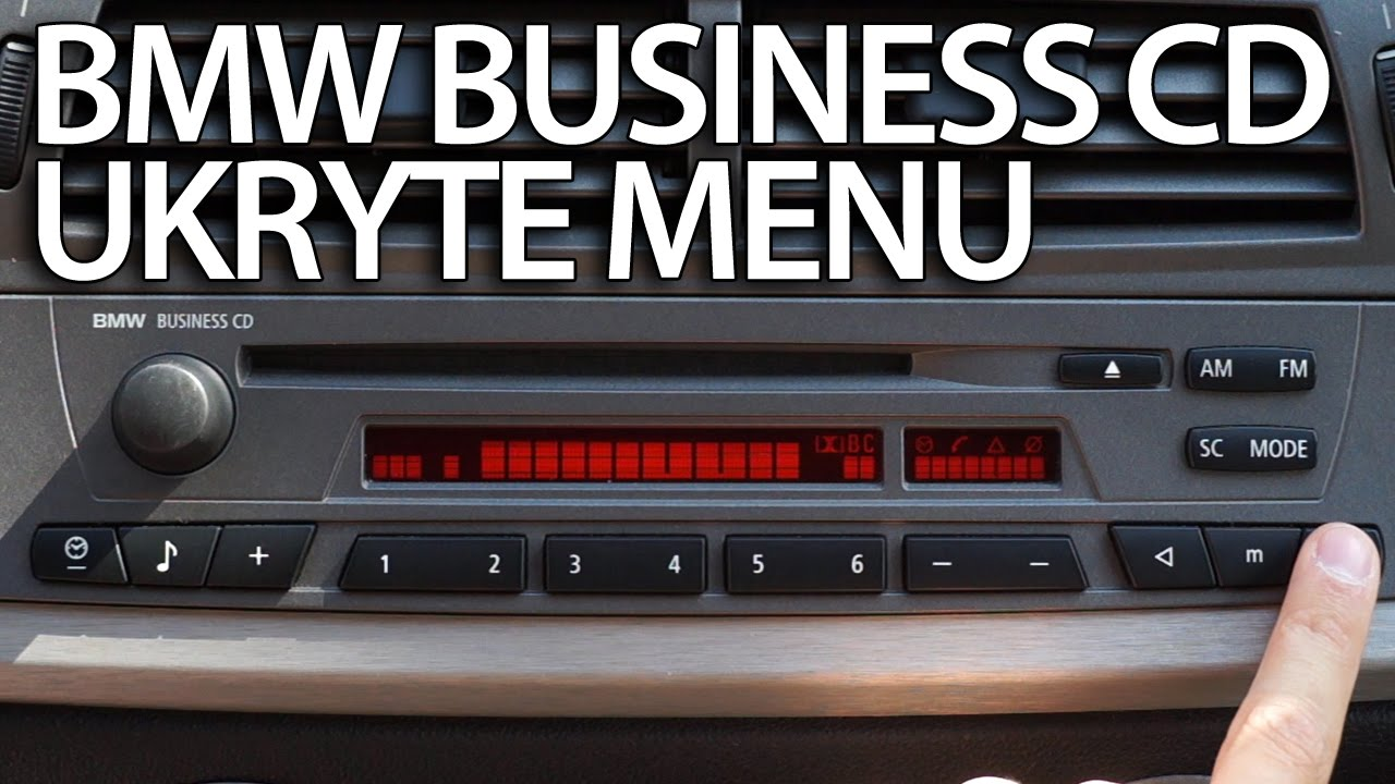 Ukryte Menu Bmw Radio Business Cd Diagnostyczny Tryb