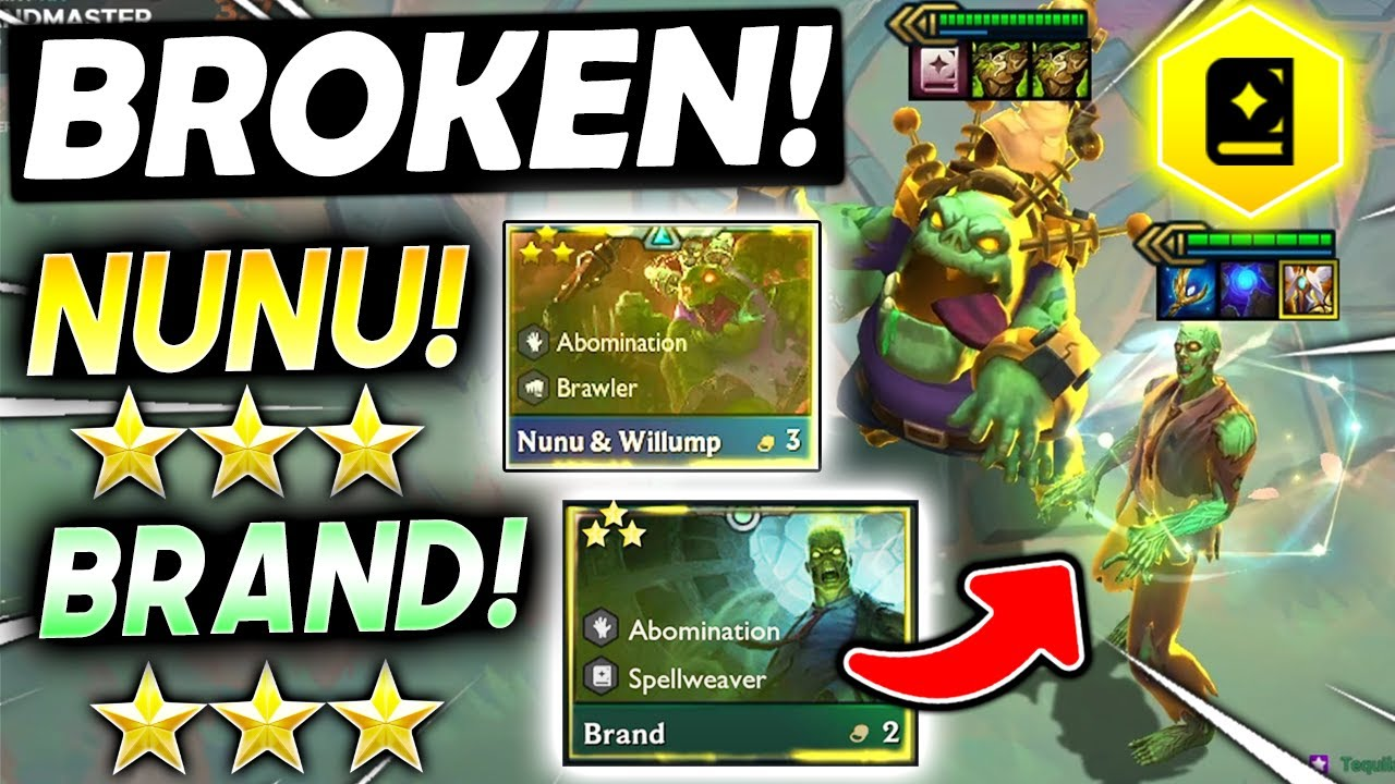 Download *RE-ROLL 3 STAR ⭐⭐⭐ BRAND + NUNU!* - TFT SET 5.5 Guide Teamfight Tactics Best Ranked Comps Strategy