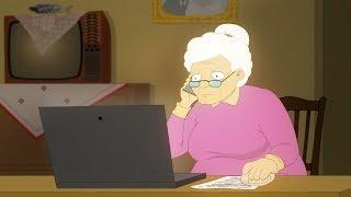 Doi Degeaba S04E18 Bunica la laptop