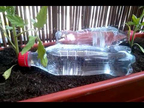 Sistema de riego por goteo con botellas pet youtube for Aspersores para riego de jardin