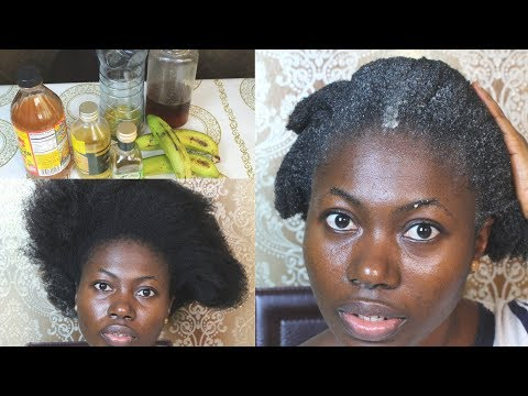 YOUR HAIR WILL GROW LIKE CRAZY. BANANA HAIR MASK FOR RAPID HAIR GROWTH
