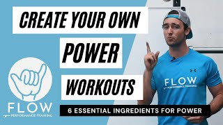 Create your own Power Workouts