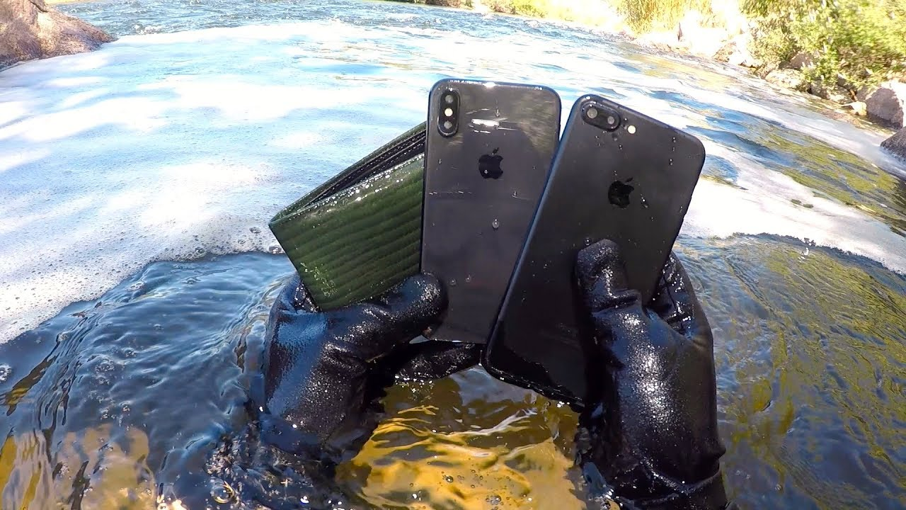I Found An Iphone X 7 And Wallet Underwater In The River Water Box Treasure