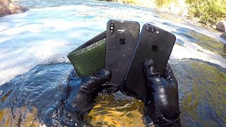 I Found an iPhone X, iPhone 7+ and Wallet Underwater in the River! (River Treasure) thumbnail