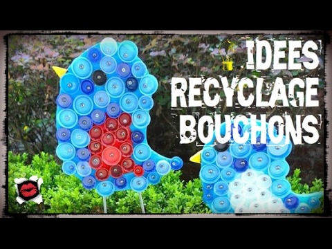 40 id es de recyclage de bouchons en plastique youtube. Black Bedroom Furniture Sets. Home Design Ideas