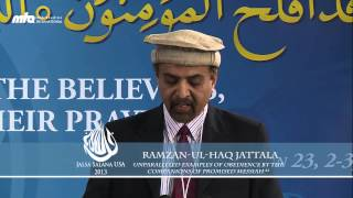 Unparalleled examples of obedience by the companions of Promised Messiah (as) - Jalsa USA WC 2013