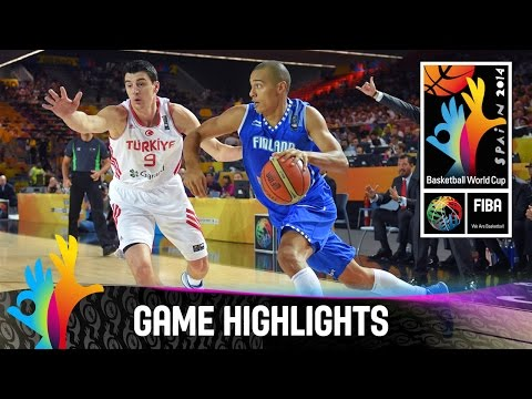 Turkey v Finland - Game Highlights - Group C - 2014 FIBA Basketball World Cup