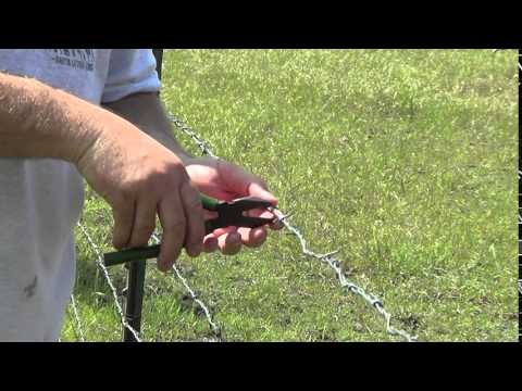 How To Tighten A Fence Using Pliers Take Slack Out On