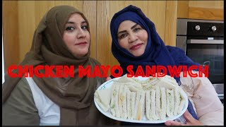CHICKEN MAYO SANDWICH - TEA TIME SNACK -POPULAR SANDWICH RECIPE!