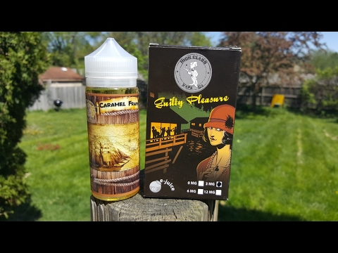 Caramel Frapp and Guilty Pleasure by high class vape Co