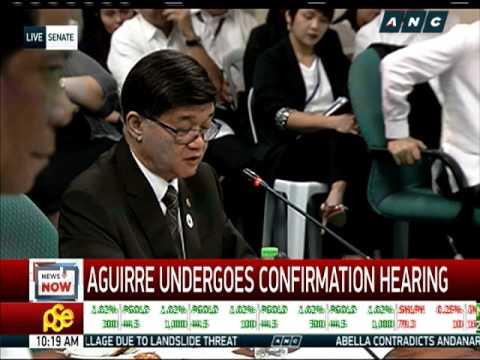Trillanes blocks Aguirre's confirmation as Justice Secretary (Aguirre)