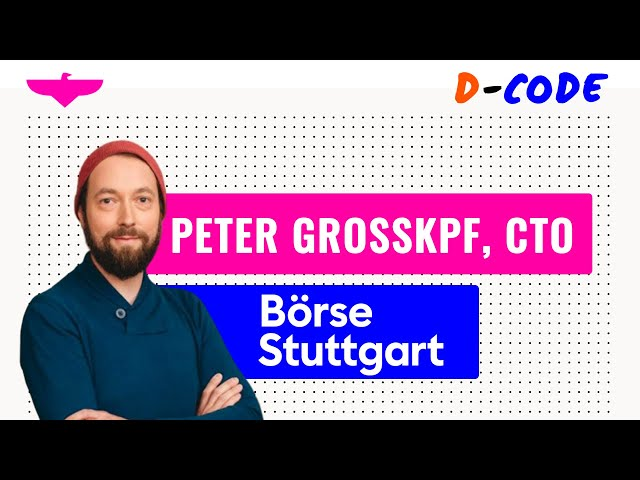 The journey & responsibilities of a CTO by Peter Grosskopf CTO at DAE at Börse Stuttgart