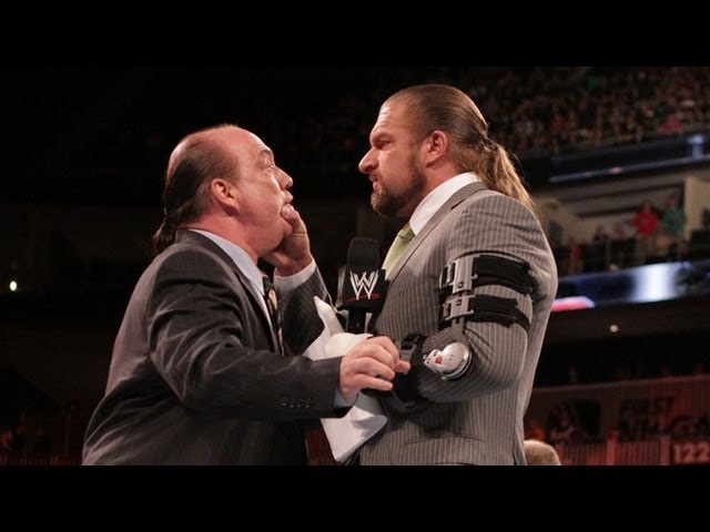Paul Heyman hand delivers Triple H a lawsuit from Brock Lesnar: Raw, May 14, 2012