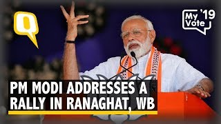 PM Modi Addresses a Rally in Ranaghat, West Bengal