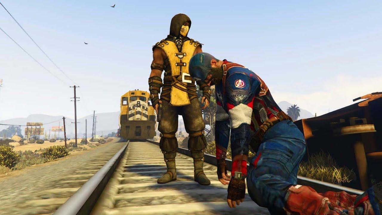 57c9f6e3a1 GTA 5 BRUTAL FAIL COMPILATION (Grand Theft Auto V Walk with SCORPION Funny Thug  life)