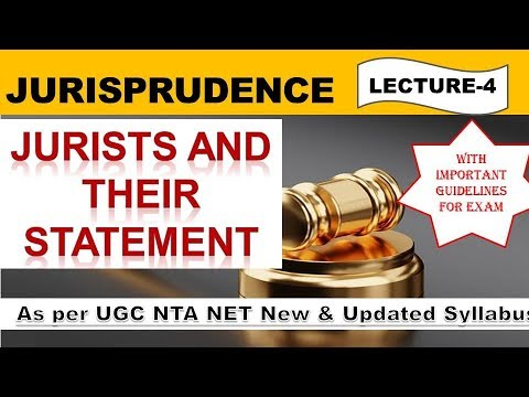 Jurisprudence Definition & Statement By Jurists