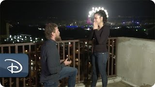 MLB Athlete Hunter Pence's Surprise Proposal | Walt Disney World