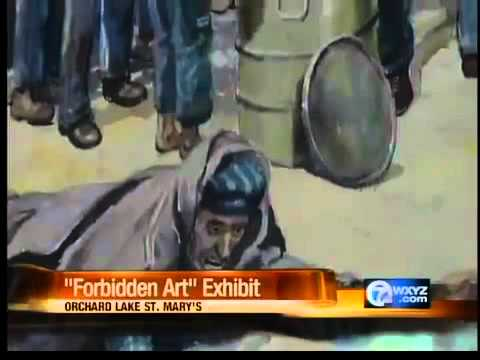 Art by concentration camp prisoners on display