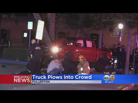 Driver Arrested For Striking Nine Pedestrians In Fullerton