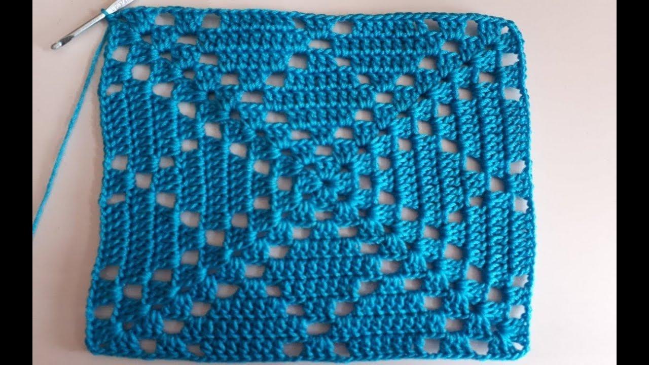 Como Hacer Cuadros De Crochet Para Mantas.Cuadro A Crochet Paso A Paso Facil De Tejer Cuadrado A Crochet