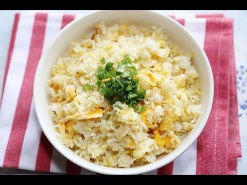 สูตรและวิธีทำข้าวผัดไข่เมนูโปรดตอนเป็นนักเรียน / Thai Egg Fried Rice Recipe