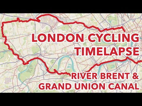 River Brent & Grand Union Canal London Cycling Timelapse