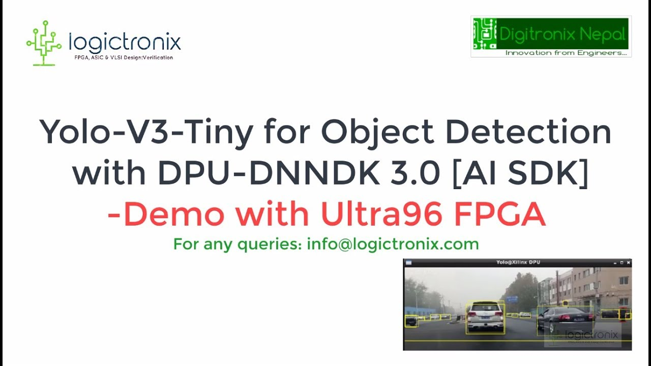 Yolo V3 Tiny [Caffe] for Object Detection with DPU DNNDK & Ultra96 FPGA