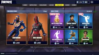Fortnite! Red knight is back out! New Skin: Criterion! New Dance: Infinity Dab