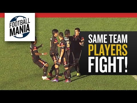Same Team Players Fight! General Diaz defenders punch each other!
