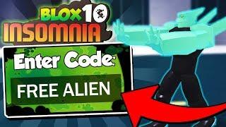ALL WORKING ALIEN CODES in Blox 10: Insomnia! (Roblox Ben 10 Codes)