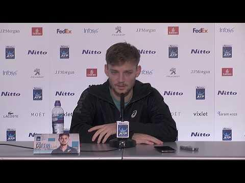 David Goffin ATP World Tour Finals  - Press Conference