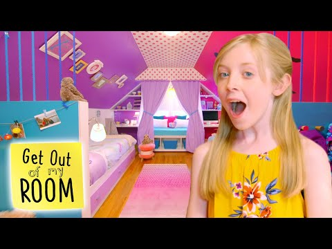 Sisters Get a MEGA MAKEOVER For Their Shared Room! | Get Out Of My Room | Universal Kids