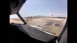 Cockpit Landing in Palma de Mallorca