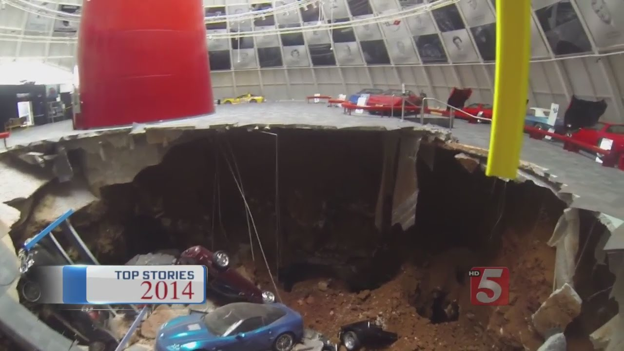 Top Stories Of 2014 Sinkhole Opens Up At Corvette Museum