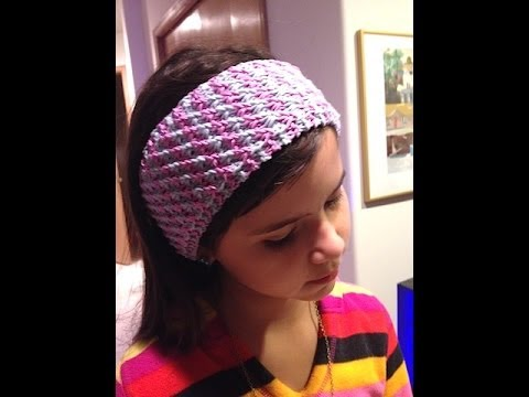 Loom Knitting With Two Colors : How to knit star stitch headband knitting tutorial video on 2