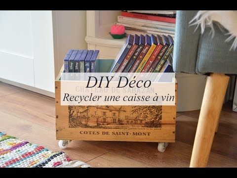 diy d co recycler une caisse vin rangement youtube. Black Bedroom Furniture Sets. Home Design Ideas