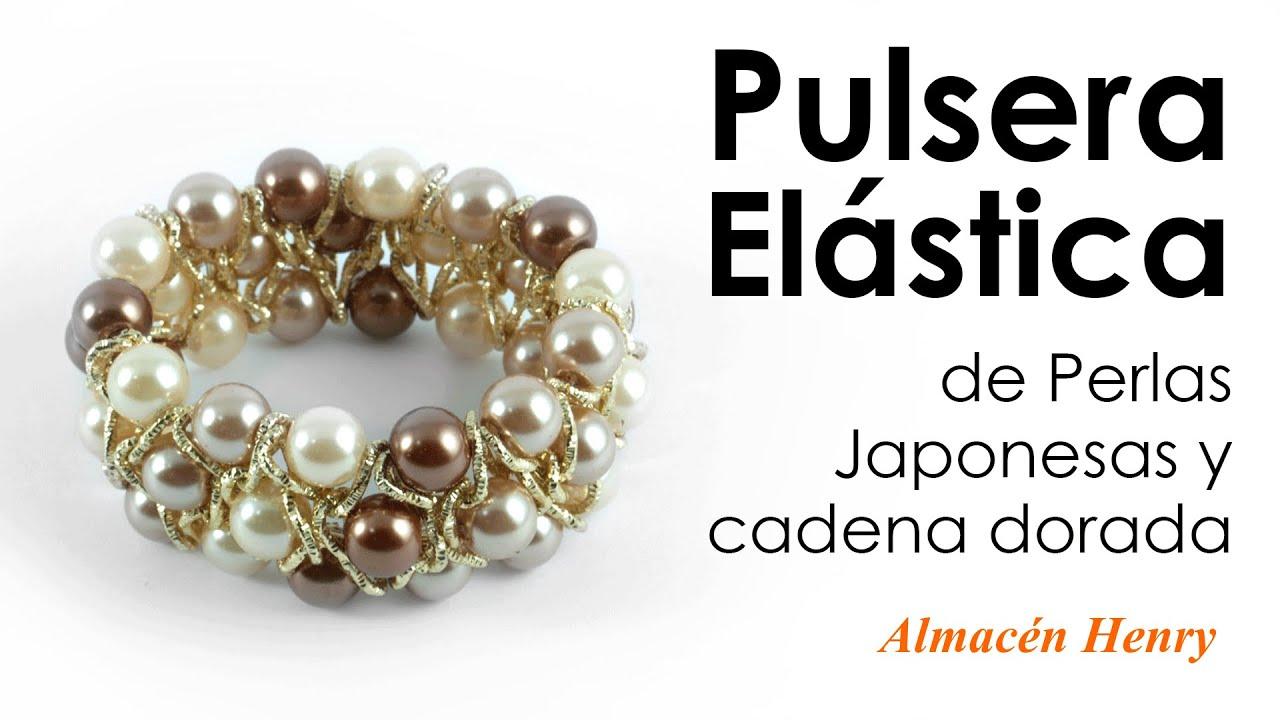 ae6d85735d29 Tutorial - Pulsera Elastica de Perlas y Cadena