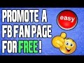 How To Promote Facebook Page For FREE 2018!
